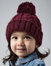 Infant Cable Knit Melange Beanie