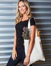 Cotton Bag, Fairtrade-Cotton, natural, long handles